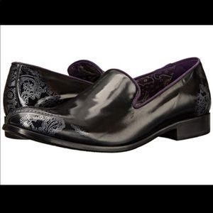 Robert Graham Men's Black Prince Loafers 10.5